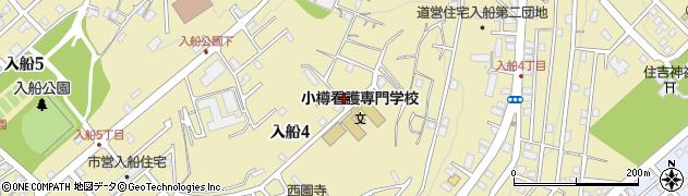 北海道小樽市入船周辺の地図