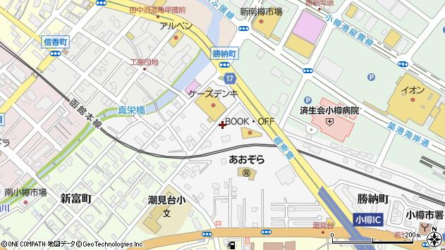 〒047-0005 北海道小樽市勝納町の地図