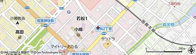 北海道小樽市若松周辺の地図