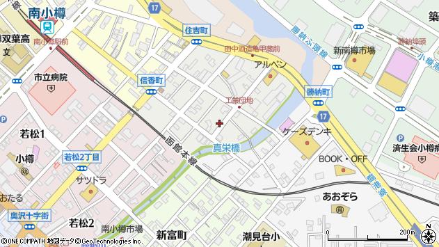 〒047-0016 北海道小樽市信香町の地図