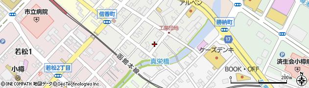 北海道小樽市信香町周辺の地図