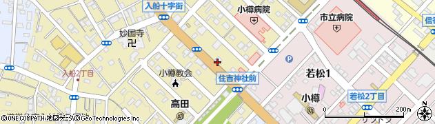 北海道小樽市住ノ江周辺の地図