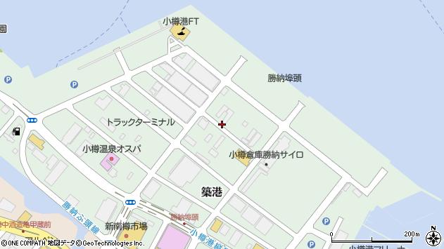 〒047-0008 北海道小樽市築港の地図