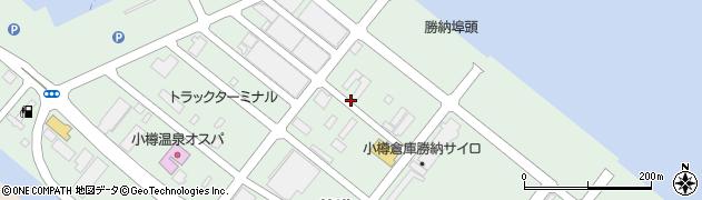 北海道小樽市築港周辺の地図
