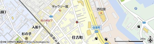 北海道小樽市住吉町周辺の地図