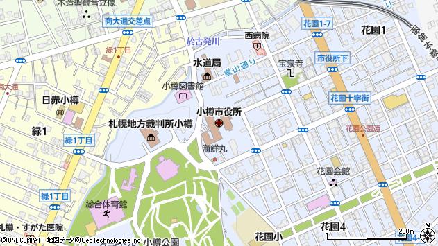 〒047-0000 北海道小樽市(以下に掲載がない場合)の地図