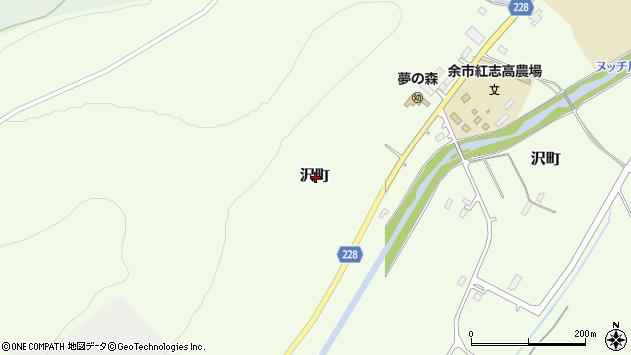 〒046-0022 北海道余市郡余市町沢町の地図