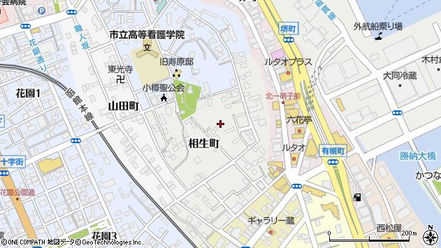 〒047-0028 北海道小樽市相生町の地図