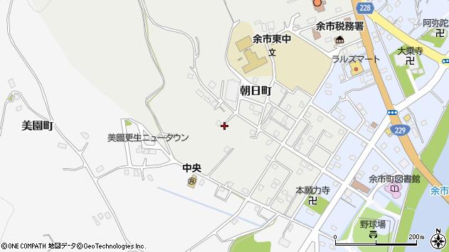 〒046-0015 北海道余市郡余市町朝日町の地図