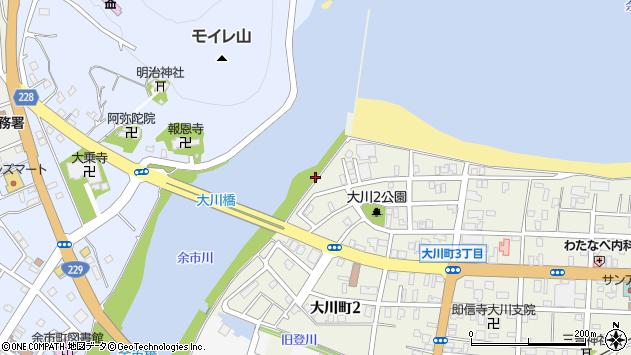 〒046-0004 北海道余市郡余市町大川町の地図