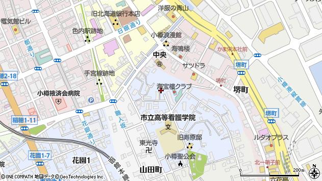 〒047-0026 北海道小樽市東雲町の地図