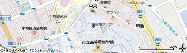 北海道小樽市東雲町周辺の地図