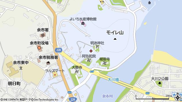 〒046-0011 北海道余市郡余市町入舟町の地図