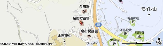 北海道余市郡余市町周辺の地図