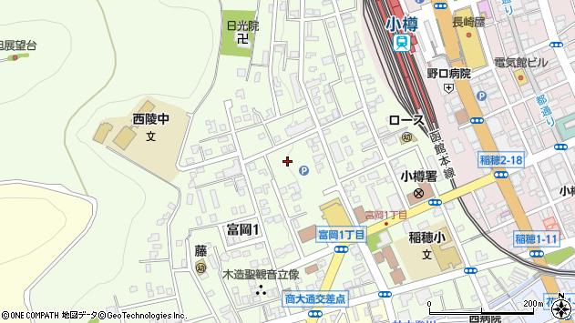 〒047-0033 北海道小樽市富岡の地図