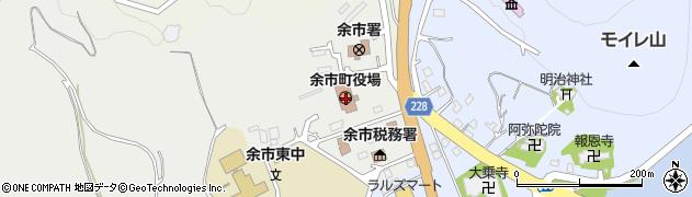 北海道余市町(余市郡)周辺の地図