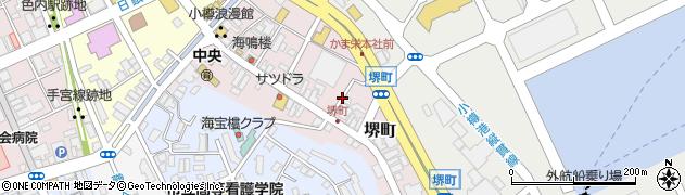 北海道小樽市堺町周辺の地図