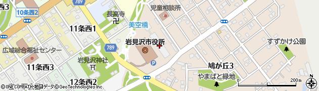 北海道岩見沢市周辺の地図