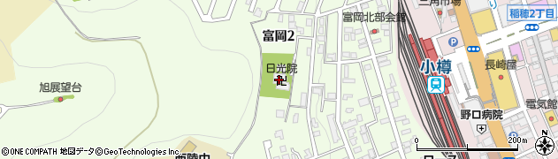 日光院周辺の地図
