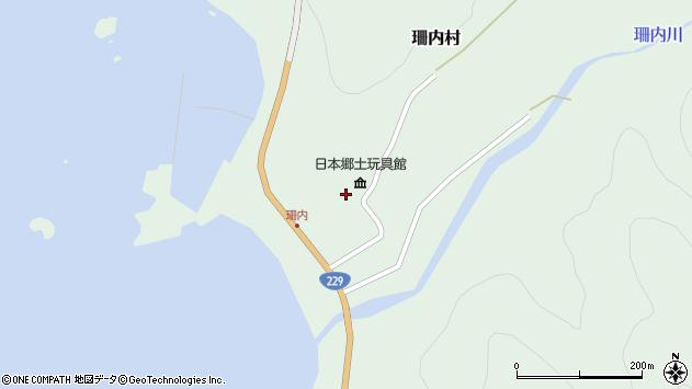 〒045-0303 北海道古宇郡神恵内村珊内村の地図