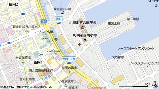 〒047-0007 北海道小樽市港町の地図