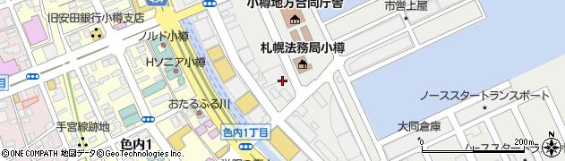 北海道小樽市港町周辺の地図
