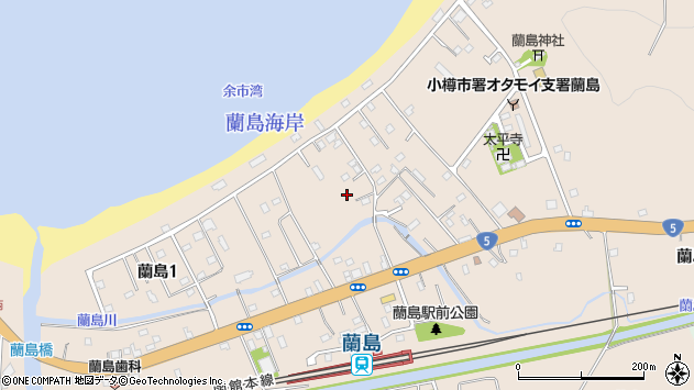 〒048-2562 北海道小樽市蘭島の地図