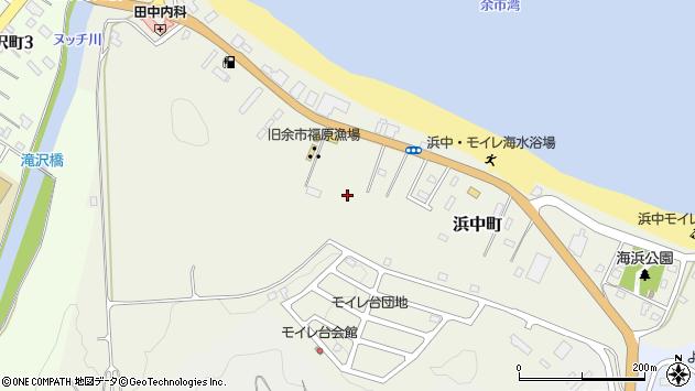 〒046-0021 北海道余市郡余市町浜中町の地図