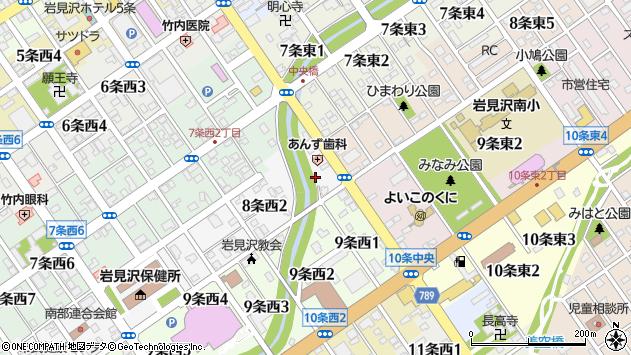 〒068-0028 北海道岩見沢市八条西の地図