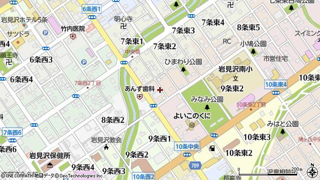 〒068-0008 北海道岩見沢市八条東の地図