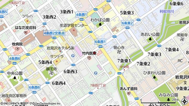 〒068-0026 北海道岩見沢市六条西の地図