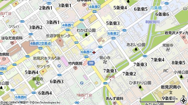 〒068-0006 北海道岩見沢市六条東の地図
