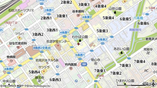 〒068-0005 北海道岩見沢市五条東の地図