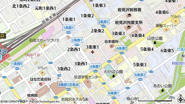 〒068-0003 北海道岩見沢市三条東の地図