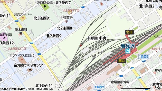 〒068-0035 北海道岩見沢市有明町中央の地図
