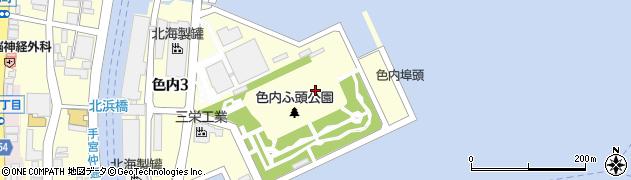 北海道小樽市色内周辺の地図
