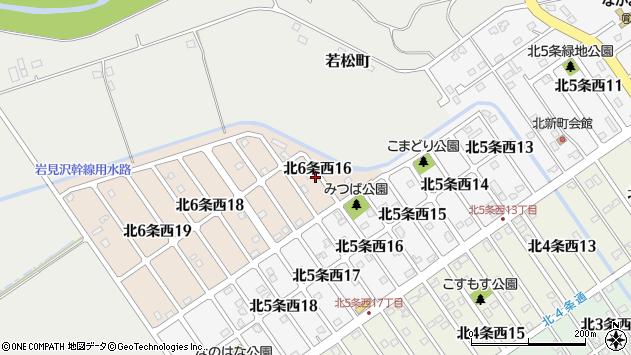〒068-0061 北海道岩見沢市北六条西の地図