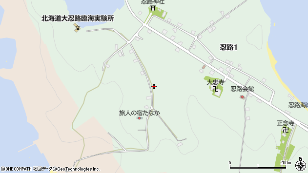 〒048-2561 北海道小樽市忍路の地図