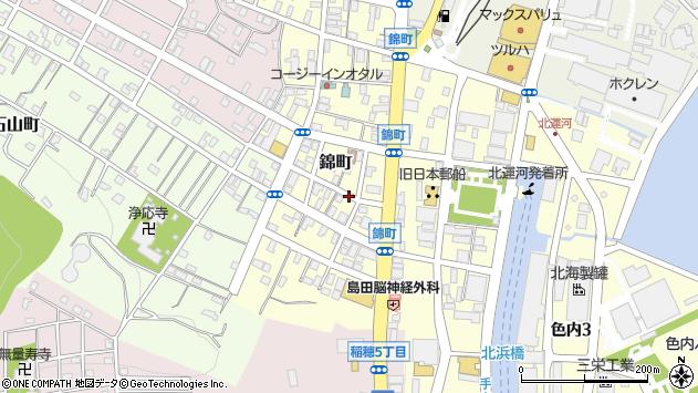 〒047-0039 北海道小樽市錦町の地図