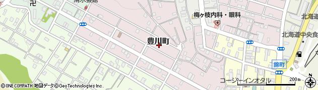 北海道小樽市豊川町周辺の地図