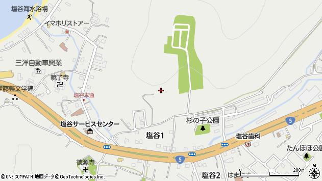 〒048-2672 北海道小樽市塩谷の地図