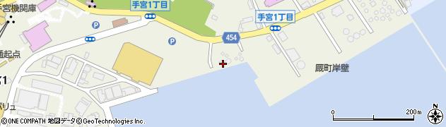 北海道小樽市手宮周辺の地図