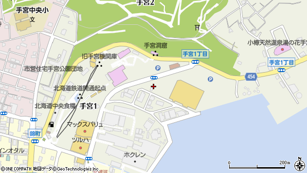 〒047-0041 北海道小樽市手宮の地図