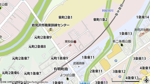 〒068-0013 北海道岩見沢市東町一条の地図