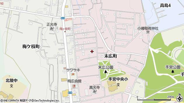 〒047-0042 北海道小樽市末広町の地図