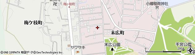 北海道小樽市末広町周辺の地図