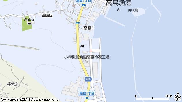 〒047-0048 北海道小樽市高島の地図