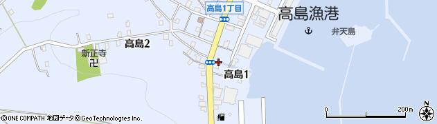 北海道小樽市高島周辺の地図