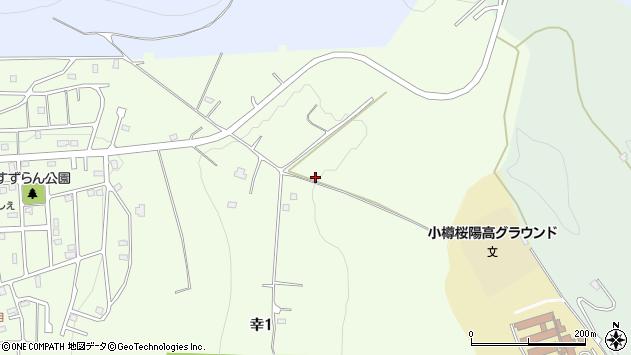 〒047-0037 北海道小樽市幸の地図
