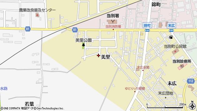〒061-0225 北海道石狩郡当別町美里の地図